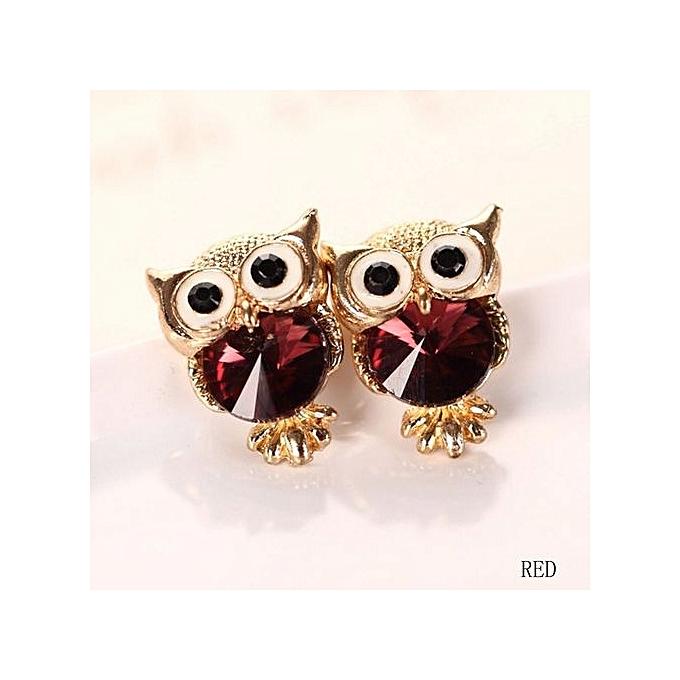 d508f7dda Jewelry Cute Personality Antique Golden Owl Blue Crystal Stud Earrings For  Women Gift Idea