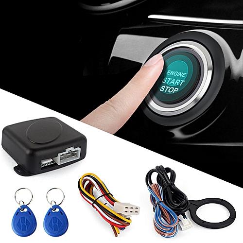 Smart RFID Car Alarm System Push Engine Start Stop Button Lock Ignition  Immobilizer with Remote Keyless Go Entry System 12V JOHN
