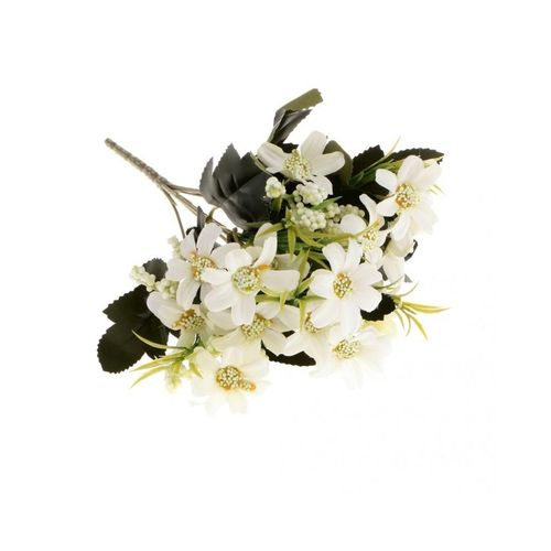 Artificial 6 Fork Daisy Flower Bouquet Wedding Party Home Garden Decor White