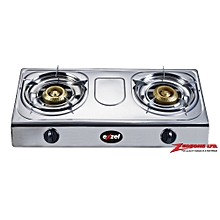 Exzel Stainless Steel Two Burner Gas Stove