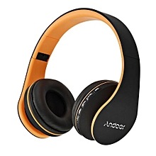 Best-selling LH-811 Digital 4 In 1 Multifunctional Wireless Stereo Bluetooth 4.1 + EDR Headphone Earphone Headset & Wired Earphone With Mic MP3 Player MicroSD / TF Music FM Radio Hands-free For Smart Phones Tablet PC Notebook  Orange
