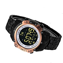 Bluetooth4.0 Smart Watch Stainless Steel Sports And Exercise Man Running Smartwatch -Black
