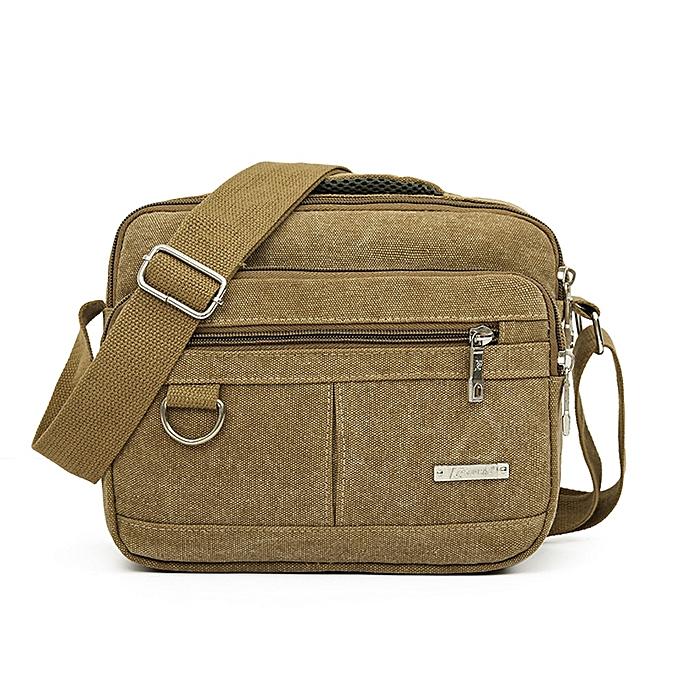 fcf0dea50d18 ... koaisd Men Canvas Bag Casual Travel Men s Crossbody Bag Men Messenger  Bags KH
