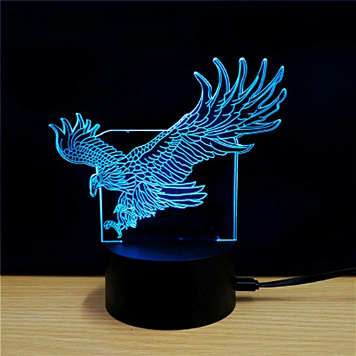 Night Light Acrylic Gift Home Decor 3d Led Wolf Control Colorful Easy Operation Desktop Led Table Lamps Lights & Lighting