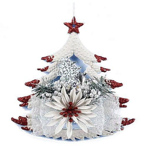 Generic White Christmas Home Door Window Ornaments Christmas