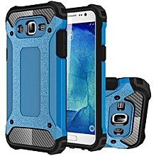 Mooncase Case For Samsung Galaxy J7 Hybrid Full Body Heavy Duty Armor Case Dual Layer Shock Absorbing TPU Protective Case Blue