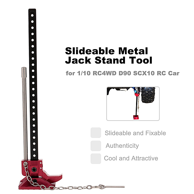 Emulational Slideable Metal Jack Stand Tool for 1/10 RC4WD D90 SCX10 D110  Axial Rock Crawler RC Car