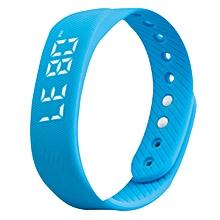 Smart Sport 3D Pedometer Wristband Watch Bracelet - Blue