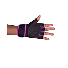 Purple Gym Body Building Training Fitness Gloves Sports Weight Lifting Gloves Exercise Cycling For Men And Women Fitness Sports Half Finger Gloves GYM Weight Lifting Wraps Body Building Workout Exercis