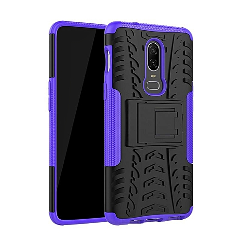 the best attitude 539df 891ab For OnePlus 6 Case Silicone Plastic 2 in 1 Armor case OnePlus 6 Funda Capa  Shockproof Cover For OnePlus 6 Case With Kickstand