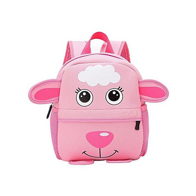 30261f777505 Xingbiaocao Child Backpack Toddler Kid School Bags Kindergarten Cartoon  Shoulder Bookbags -Pink