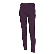 Women Purple Slim-Fit Stretch Twill Full Length Jeggings