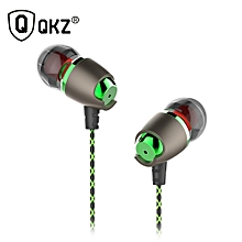 Earphone Magnetic Noise Cancelling Headsets DJ QKZ DM11 s HiFi Ear Phone Stereo BASS Metal PRI-P