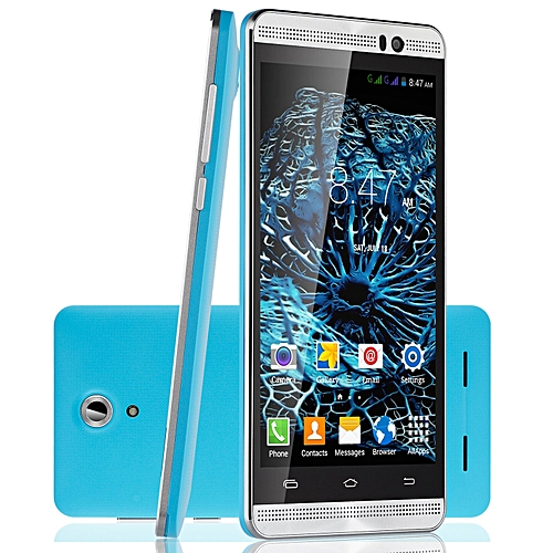 "5.0"" un-locked Dual Core Android 4.4 8GB Smartphone 3G qHD Cell Phone 5MP GPS- blue"