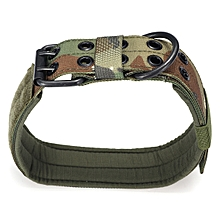 XL Military 1000D Nylon Tactical Dog Collar Metal Buckle Green Training Collar