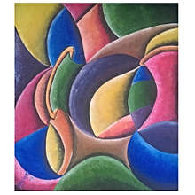 abstract wall painting - 87cm by 99cm - multicolored