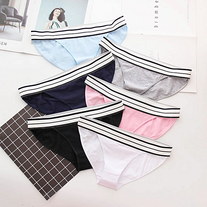 0ba8c90a580 Generic Women s Cotton Stretch Bikini Panties Breathable Underwear 6 ...