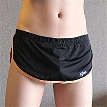 Mens Home Thongs Sleepwear Breathable Seamless Casual Low Waist Underwear Black