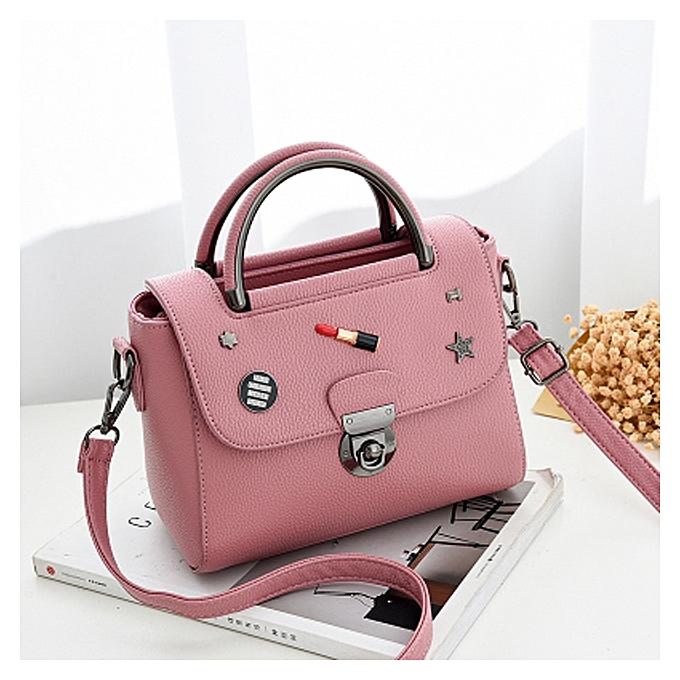 Dark Pink Bag 2018 New Korean Fashion Handbags Wild Shoulder Simple Handbag Las