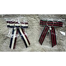 2 Vintage Pre-tied web neck Bow Tie