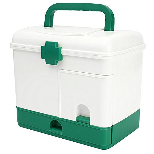 Household 3 Layer Medicine Drawer Health Box First Aid Kit Storage Bin  Organizer Medical Model Case Portable Large Capacity(# )