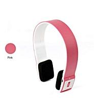 Headphone HandsFree Stereo Audio Bluetooth Headset Bluetooth Sports Wireless High Quality Headphones S460 - Pink