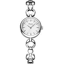 White Dial Love Band Exclusive Silver Ladies Watch + Free Gift Box