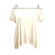 White Cold Shoulder Top With Glitter Straps