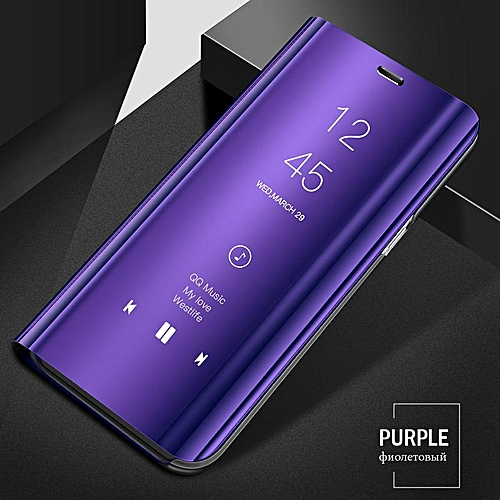 best loved 57da7 24e92 Luxury Smart Clear View Mirror Case For Samsung Galaxy S9 Cover Leather  Flip Case For Samsung Galaxy S9 Stand Phone Cases (purple)