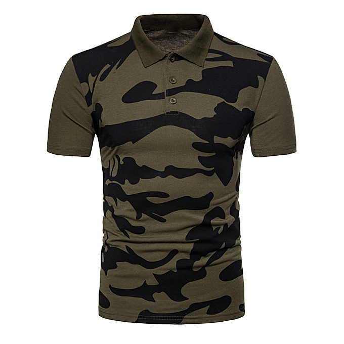 9cdeb0a0 Fashion Camo Printed Polo T-shirt - ARMY GREEN @ Best Price   Jumia ...