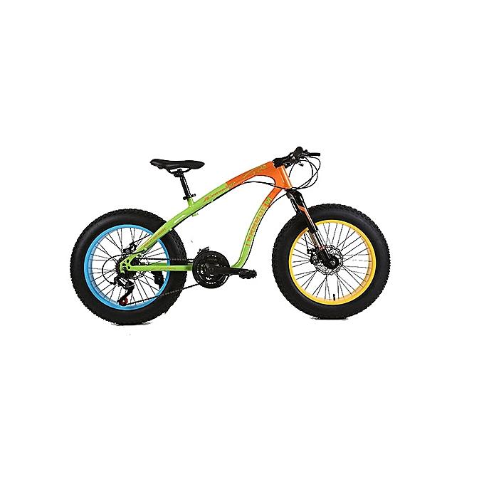"""Exercise Bike Jumia Kenya: Ifreedom 20"""" 21 Speed Orange Green Fat Tire Mountain Bike"""