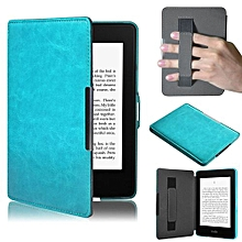 Ultra Slim Leather Smart Case Cover For Amazon Kindle Paperwhite 5 Blue
