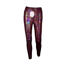 Multi color shiny leggings