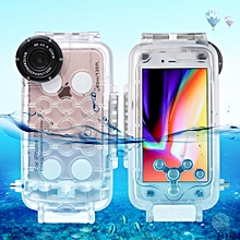 For IPhone 7 & 8 40m Waterproof Diving Housing Photo Video Taking Underwater Cover Case(Transparent)