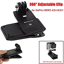 PULUZ 360° Backpack Quick Release Hat Clip Fast Clamp Mount for Gopro SJCAM Xiaomi Yi