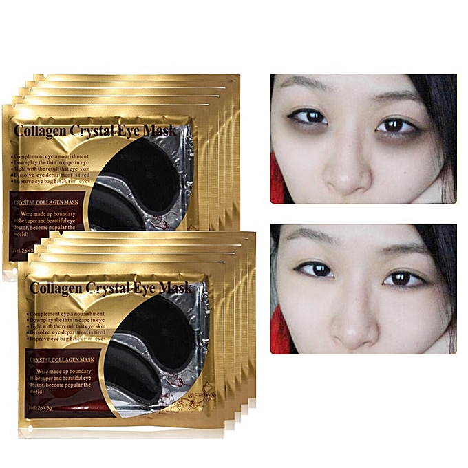 8cf3342a189 ... 10pcs 5pair Eye Mask Crystal Collagen Face Masks Anti-Puffiness Dark  Circles Anti Aging ...
