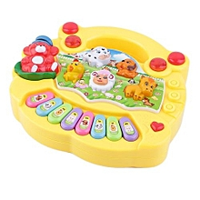 Baby Kids Musical Educational Animal Farm Piano Developmental Music Toy Gift - yellow
