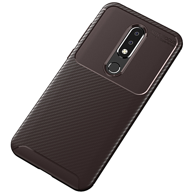 new product 95d1f c1b76 Nokia 6.1 PLus/Nokia X6 Silicone Case TPU Anti-knock Phone Back Cover -  Brown