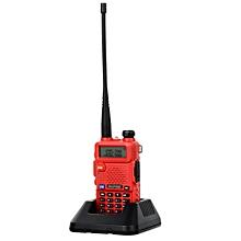"""BF-UV5R 1.5"""" LCD 5W 128-CH UV Dual-Band Walkie Talkie - Red"""