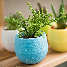 Office Decor Planter Plastic Plant Flower Pots - Blue