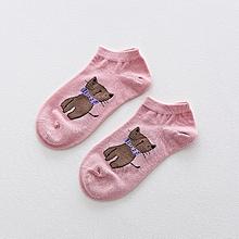 Women Cute Cartoon Cats Pattern Boat Socks Casual Harajuku Style Cotton Breathable Socks