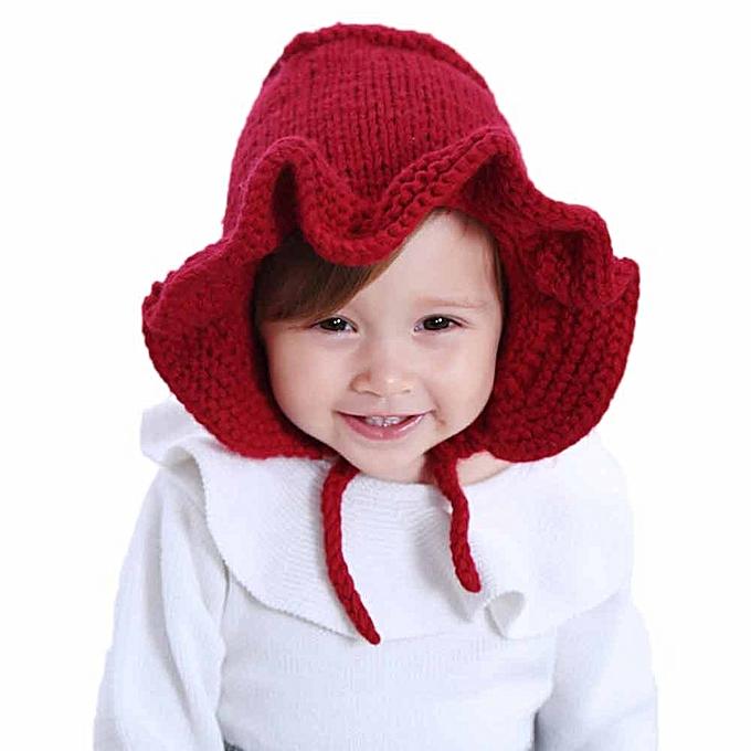... singedanFox Unisex Baby Winter Cap Children Beanie Baby Winter Hat -Red  ... 5aea2cb2034