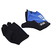 Unisex Anti-Slip Sports Half-Finger Cycling Gloves - Blue