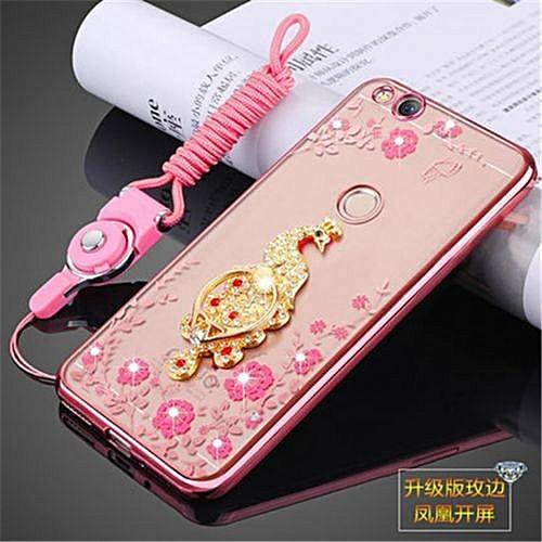 san francisco 1554c 64cb0 Luxury Rhinestone Phone Case Cover Finger Rotated Ring Holder Stand TPU For  ZTE nubia Z11 mini S nx549j 5.2