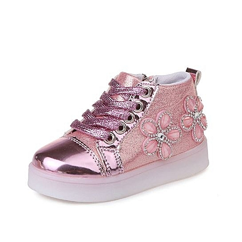 e50326fd0 Generic High Quality Fancy Flower Kids Glitter Shoes for Girls ...