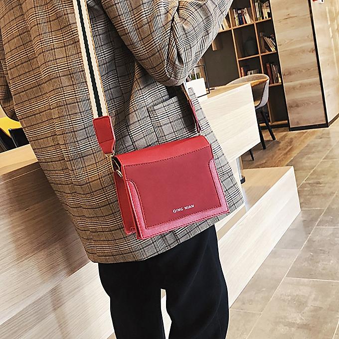 d991538e8ea1 koaisd Women Shoulder Bag Wide Shoulder Strap Simple Messenger Bag Small  Square Bag ...