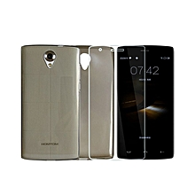 Silica Case + Ultra-thin Tempered Glass Screen Protector Set for HOMTOM HT7