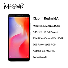 Xiaomi Redmi 6A 2GB + 16GB 3000mAh Smartphone 5.45'' 18:9 Full Screen Helio A22 Quad Core 13MP