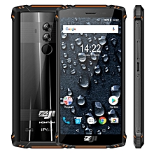 HOMTOM ZOJI Z9 Triple Proofing Phone, Dual 4G, 6GB+64GB, IP68 Waterproof Dustproof Shockproof, Heart Rate, 5500mAh Battery, Face ID & Fingerprint Unlock, 5.7 inch Android 8.1 MTK6763 Octa Core up to 2.0GHz, Network: 4G, OTG, Dual SIM, VoLTE(Orange)