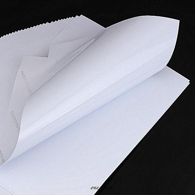 Generic 50Pcs Waterproof A4 Self Adhesive Glossy Paper